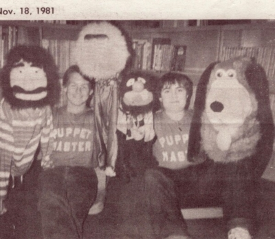 John and Ed Lucas with Puppets
