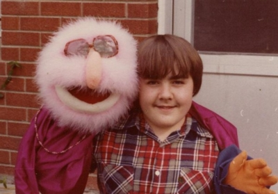 John and Pink Puppet